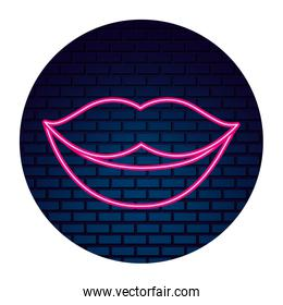 party lips mouth neon