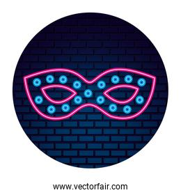 carnival party mask decoration neon