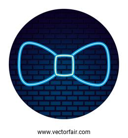party bow tie neon accessory
