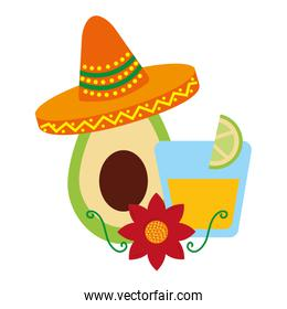 avocado and tequila drink hat mexican