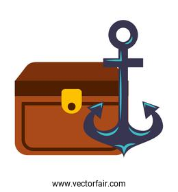 treasure chest and anchor maritime