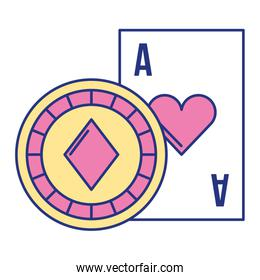 card ace chip casino game bet