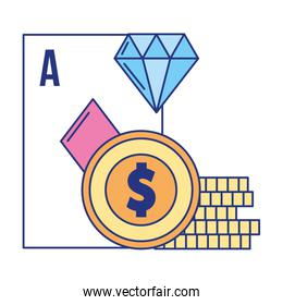 ace card poker coins casino game bet