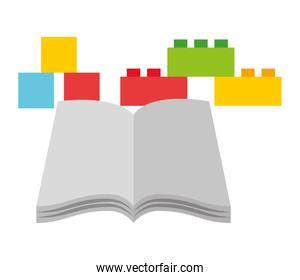 open book blocks and cubes toys kid