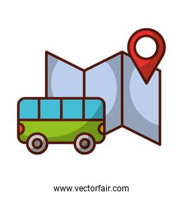 bus transport location map travel vacations