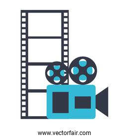 camera projector and reel strip production movie film