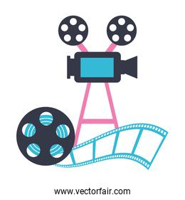 projector camera and reel strip production movie film