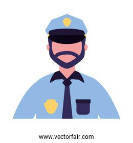 policeman character work profession labor