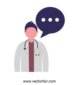 doctor male character speech bubble