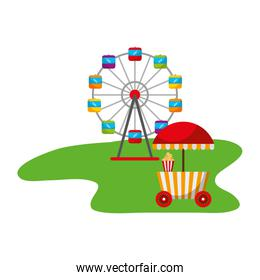 ferris wheel food booth carnival fun fair