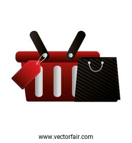 shopping online basket and bag tag price