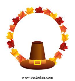 thanksgiving day hat accessory leaves