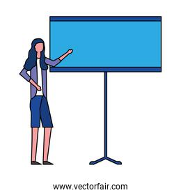 business woman with presentation board