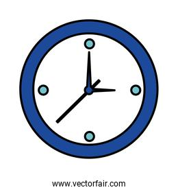 round clock time on white background