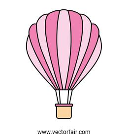 hot air balloon on white background
