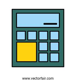 financial calculator on white background