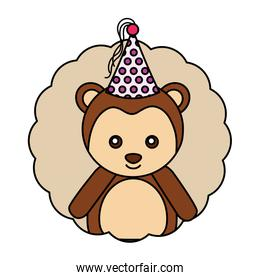cute monkey kawaii party hat
