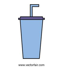 disposable cola cup with straw