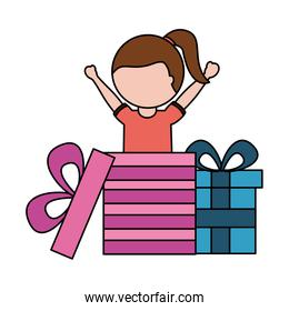 happy girl coming out birthday gift