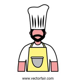 chef employee labor on white background