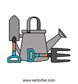 watering can shovel and fork gardening
