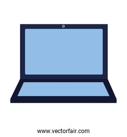 laptop computer on white background