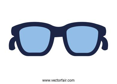 glasses accessory on white background