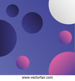 bubbles decoration abstract background pattern