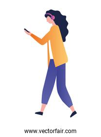 young woman using mobile device