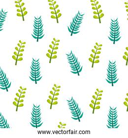 green branches foliage nature pattern