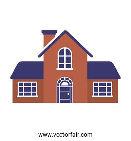 house real estate on white background
