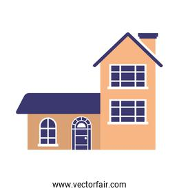 house home on white background