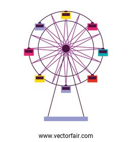 ferris wheel carnival on white background