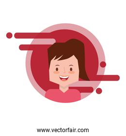 smiling woman character face image