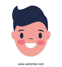 smiling man face on white background