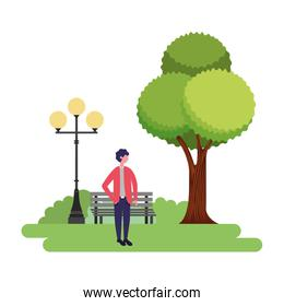 man standing in the park