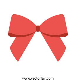 bow decoration on white background