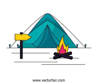 camping summer concept