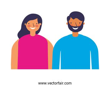 couple characters on white background