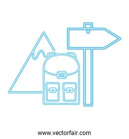 backpack mountain signal guide neon