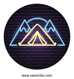 camping neon  concept