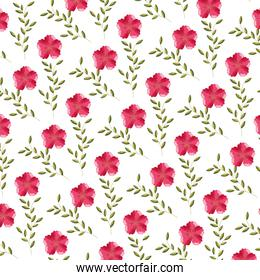 flowers leaves foliage decoration background