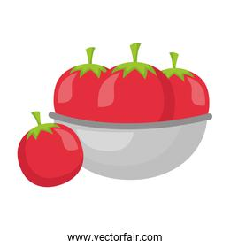 bowl with tomatoes healthy food
