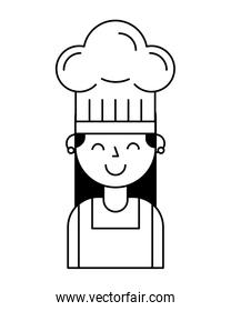 chef girl portrait with hat