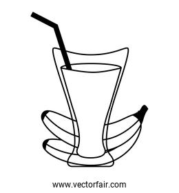 banana juice cup with straw