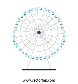 ferris wheel amusement on white background