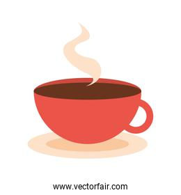 hot coffee cup on white background
