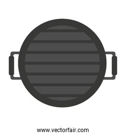grill barbecue with handles on white background