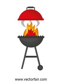 grill barbecue flame on white background