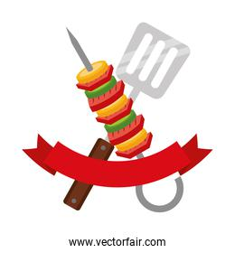 skewer and spatula barbecue ribbon